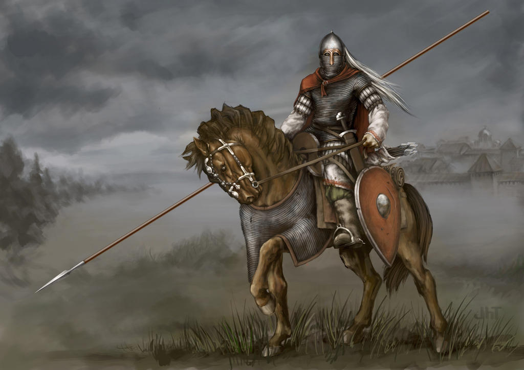 Kyiv Knight 12th century by Igor-Zhovtovsky