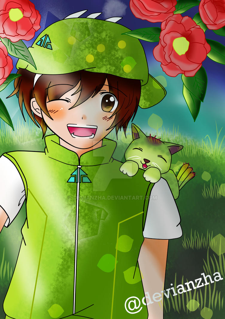 Boboiboy daun and Cattus event Monsta by Devianzha