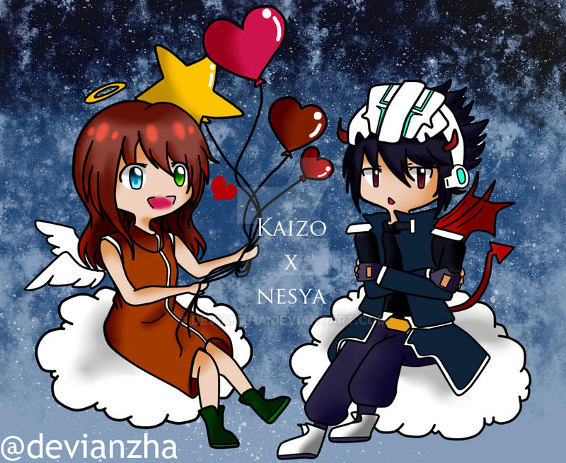 Happy Valentine Day! Kaizo x OC (Nesya) by Devianzha