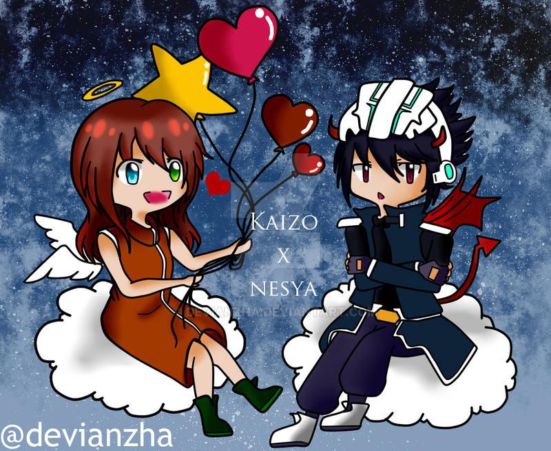 Happy Valentine Day! Kaizo x OC (Nesya) by Devianzha