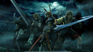 Cecil, Cloud, Firion, and Tidus