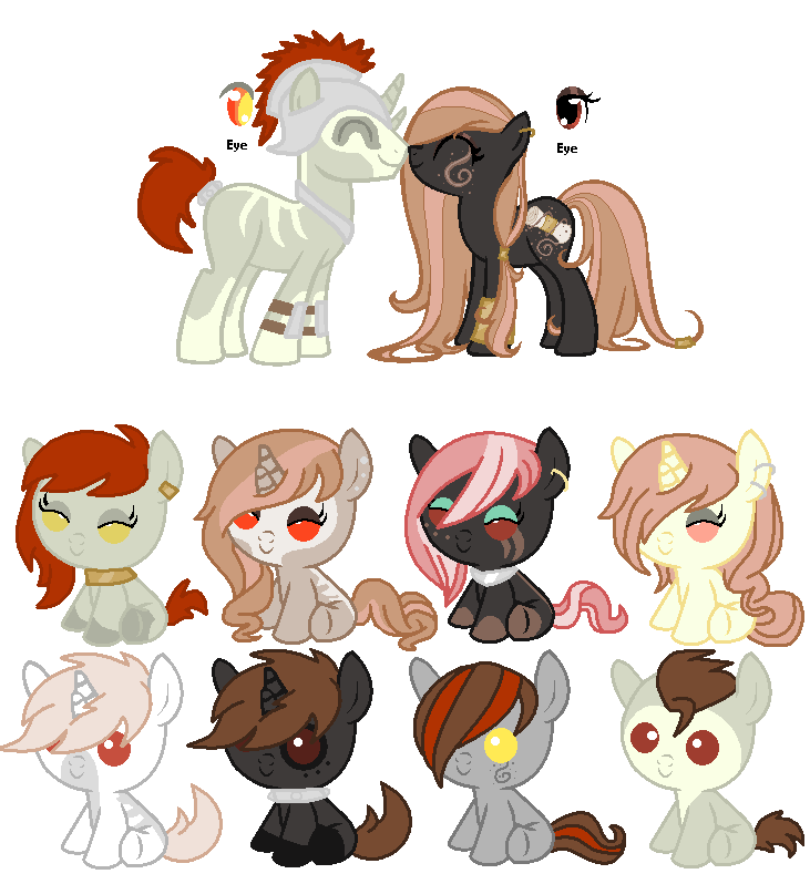 MLP Breedable: Boone Barnett and Astral Sand by ChopstickGirl241