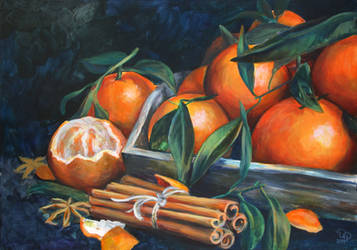 Tangerines and cinnamon