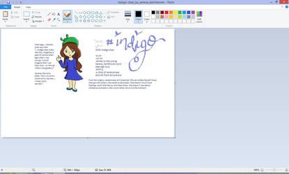 OC #1: Indigo-chan (MS Paint trash)