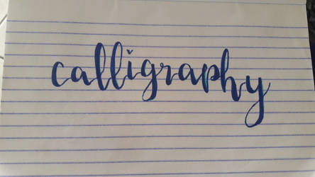 I do calligraphy