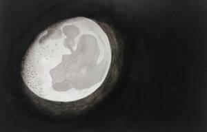 The moon shines