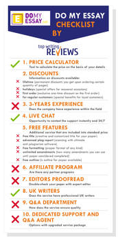 DoMyEssay features and products checklist by topwritingreviews