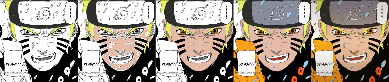 Naruto Manga 687 - Timeline Coloring by Sourdend