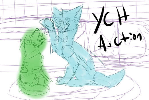 Ych auction Halloween FEED ME points and paypal