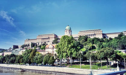 Buda Castle, Hungary by ChatteArt