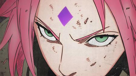 Sakura Haruno: Byakugo by ChatteArt