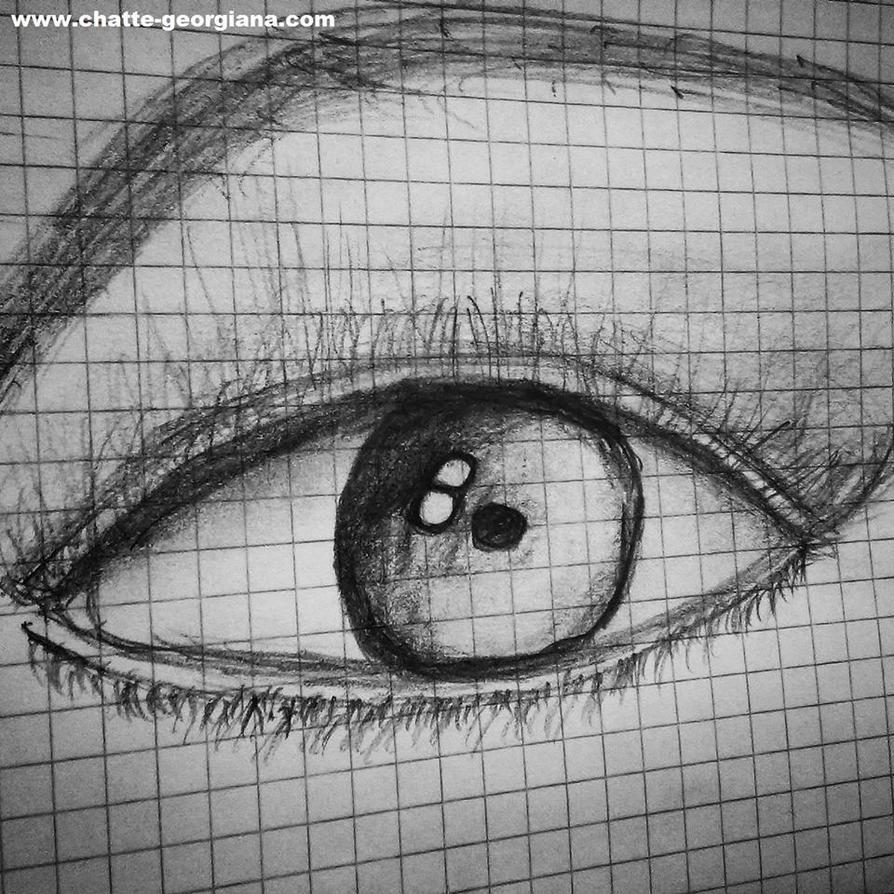 Realistic eye practice 3 by ChatteArt