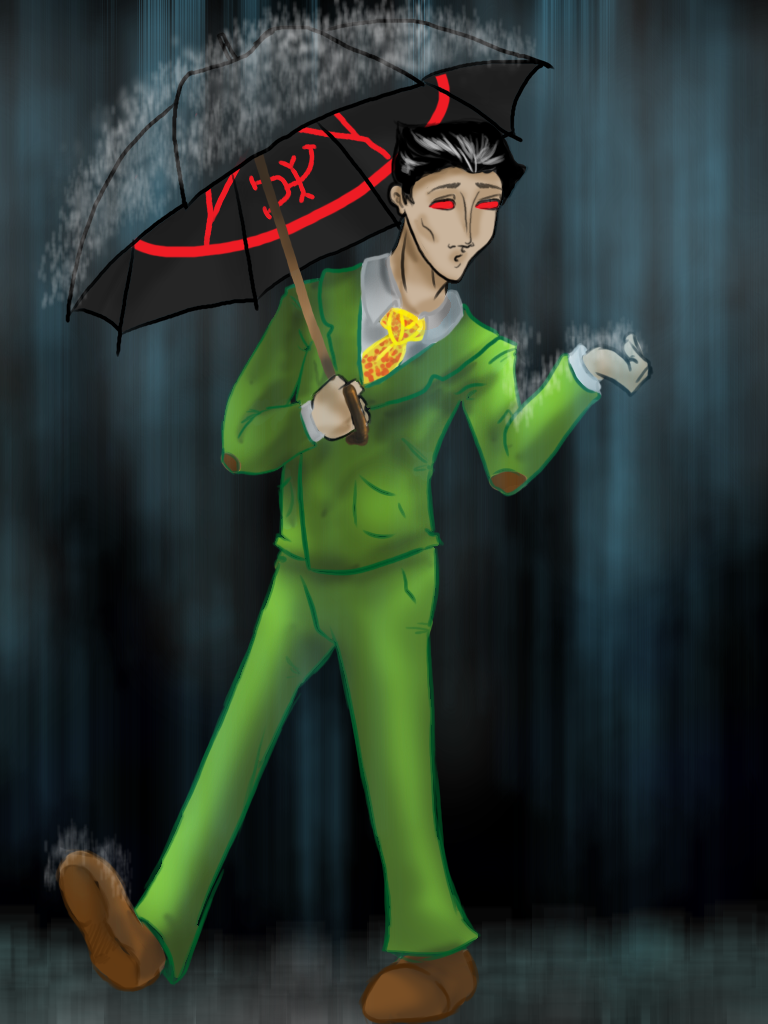 Roan In The Rain by Mythtress