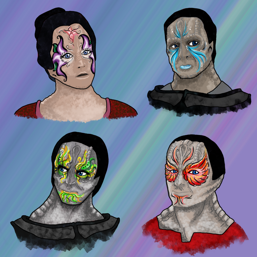 Cardassian Face Paint by Mythtress