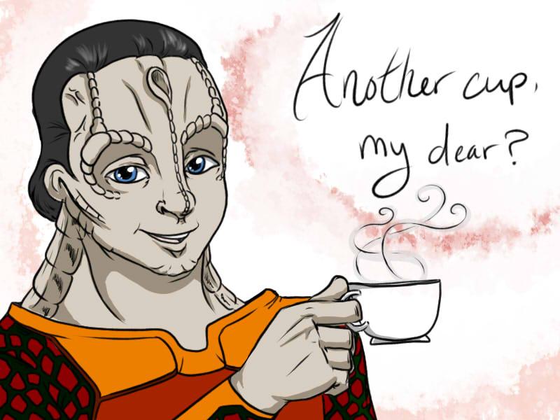 Tea With Garak by Mythtress