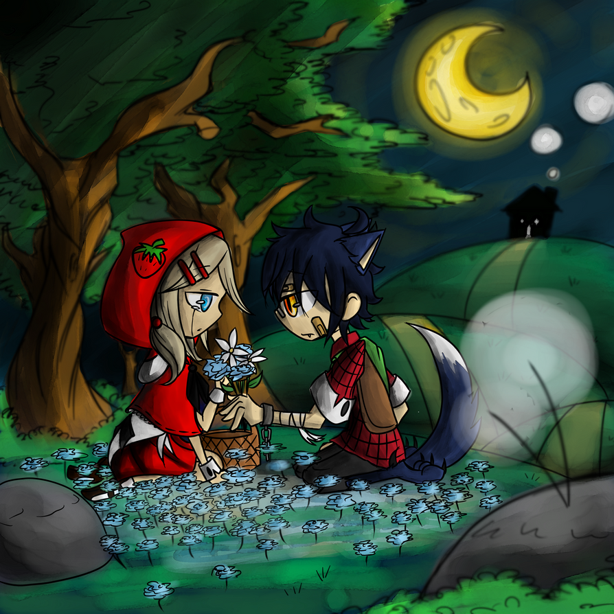 Red riding hood and the bad wolf animes pictures to pin on pinterest the lil red riding hood and big bad wolf by 894x894 mizu no983768 zerochan 1000x1412 the wolf that fell in love with sciox Choice Image