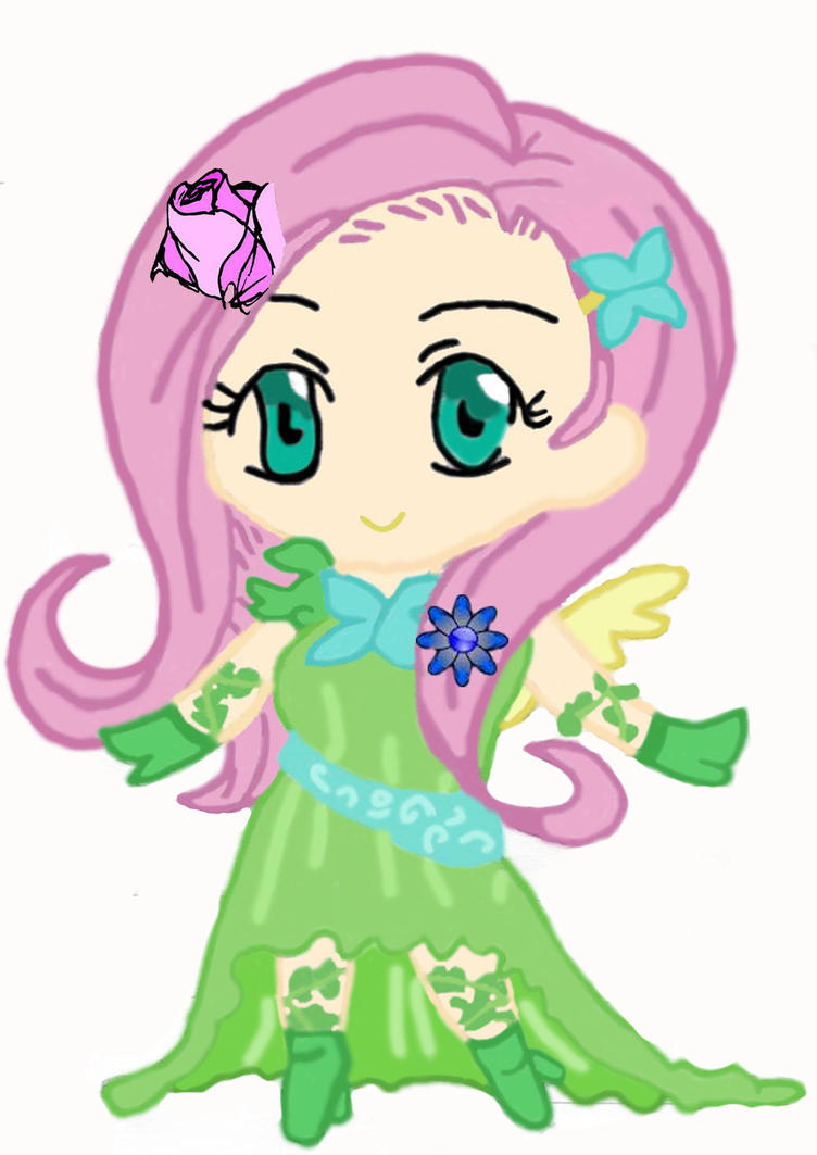 Chibi Fluttershy (Human ver.) by jellyfish432 on DeviantArt Fluttershy Human Chibi
