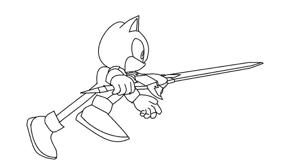 Sonic Running sword base by JFerral on DeviantArt