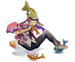 CRAZY INSANE FISH EATN by mishinsilo
