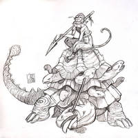 Monkey hunter by mishinsilo