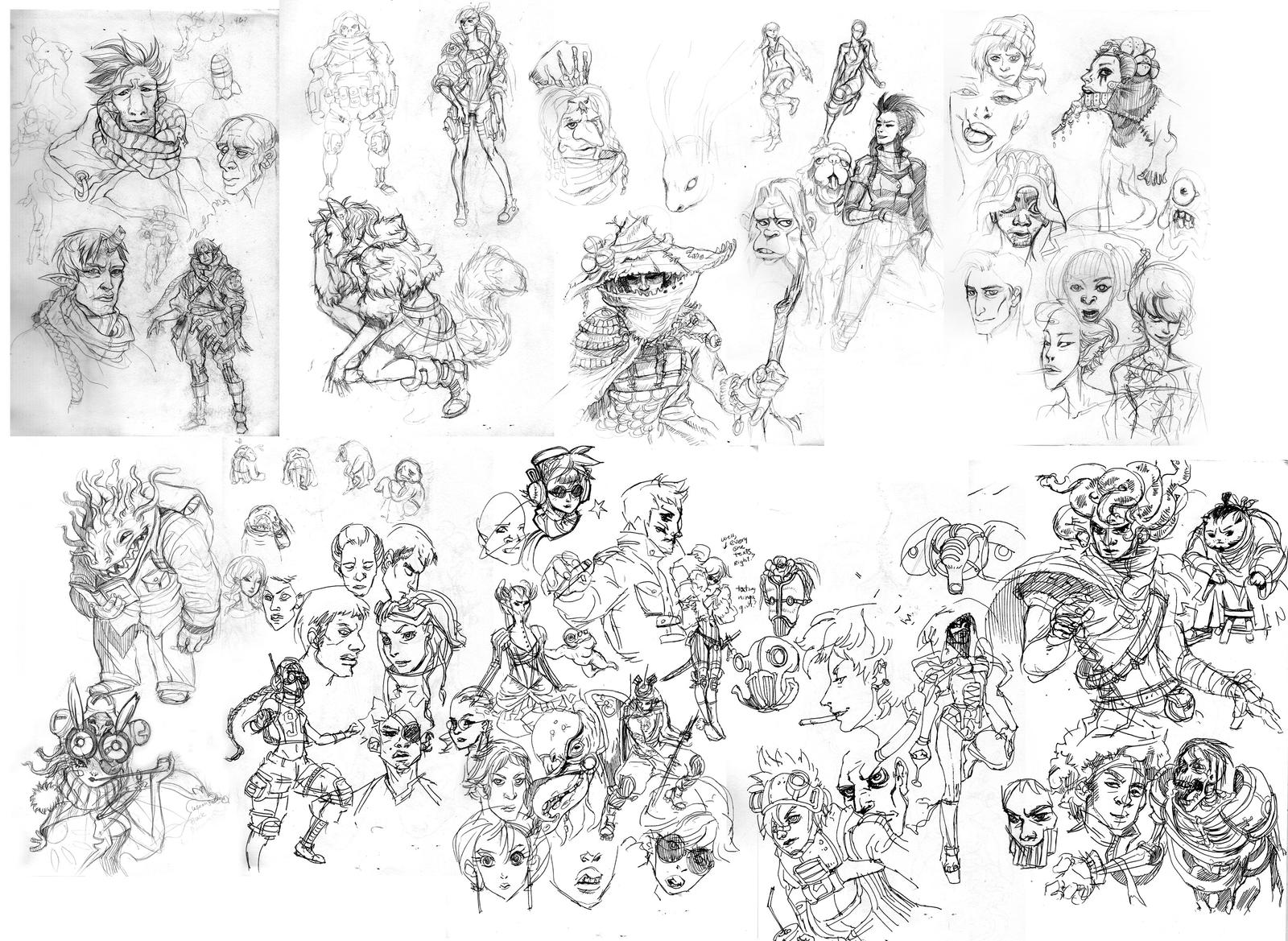 Sketch Dump Feb 22 By Mishinsilo On DeviantArt