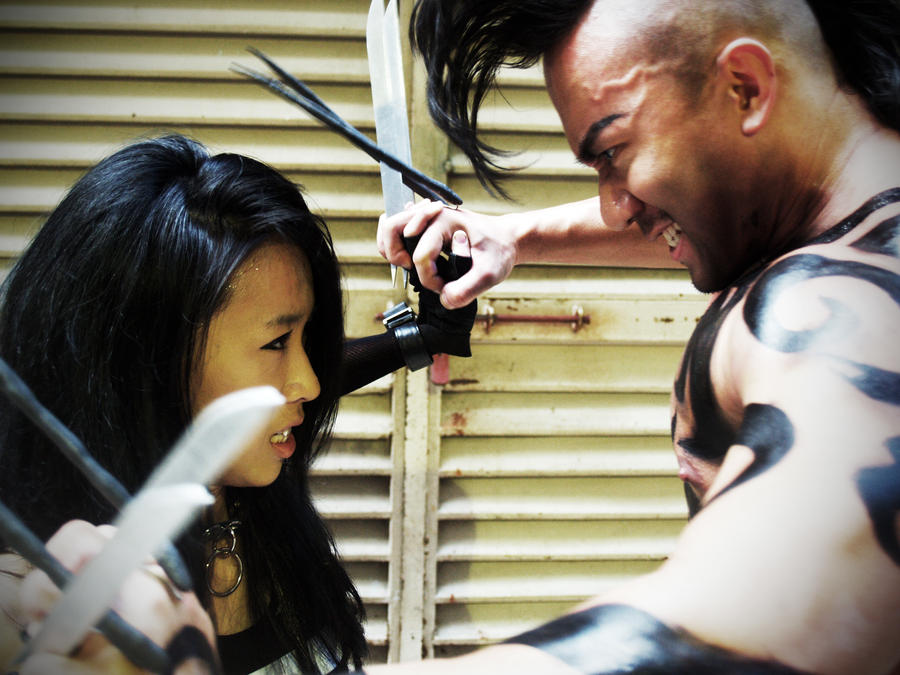Daken vs X-23 by Crimson-Shirou on DeviantArt X 23 Cosplay Wallpaper
