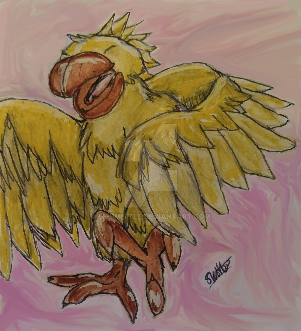 Dancing Chocobo/Bird by Le-Smittee