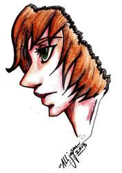 Profile drawing - inktense practice by devALLjapan