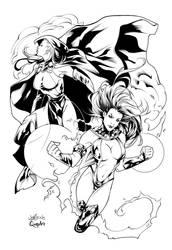 TITANS GIRLS by QueplerArts-Inker1