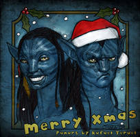 Merry X-mas 2009 Avatar Na'vi by rafater