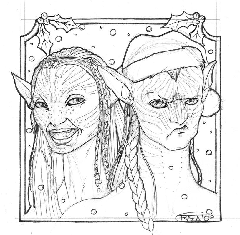 Merry Xmas 2009 pencil sketch by rafater on DeviantArt