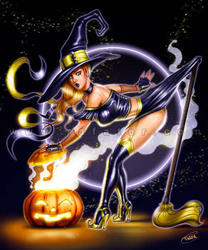 Halloween- Witch pinup