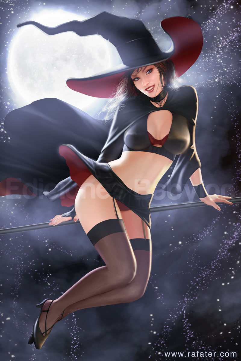 Halloween - Witch flying by rafater