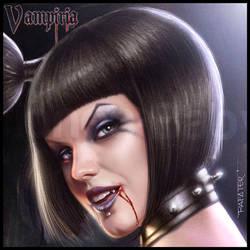 Vampiria: wanna bite and suck? face closeup by rafater