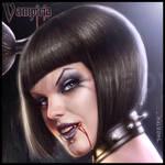 Vampiria: wanna bite and suck? face closeup