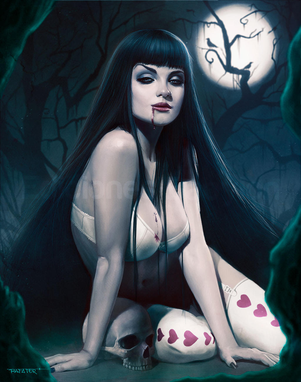 Vampire erotic digital art