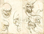 Trolls and Minotaurs sketches