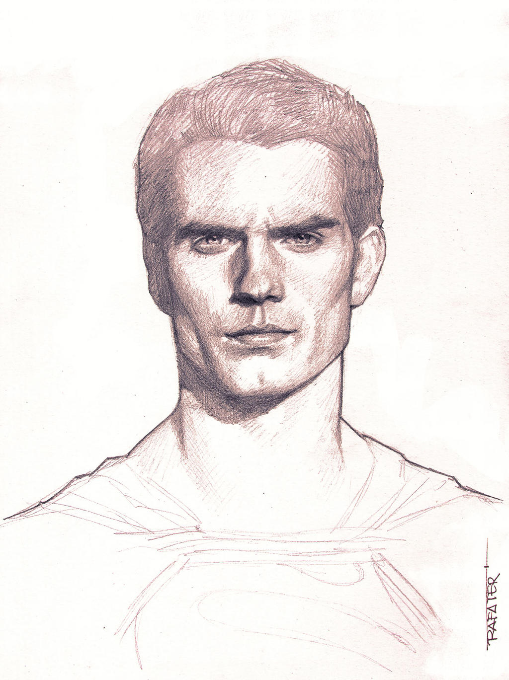 Man of steel pencil drawing by rafater on deviantart