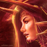 Fire Queen 100% close up by rafater