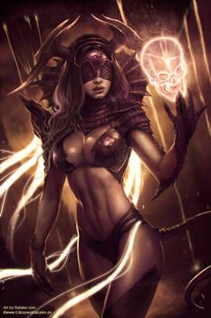 Chrysalis the dark queen by Rafater