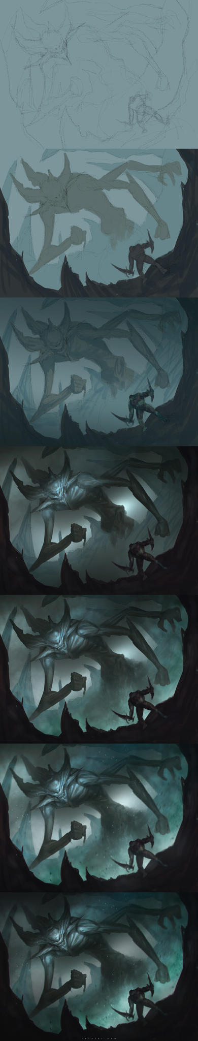 Speedpainting: Fog demon step by step by rafater
