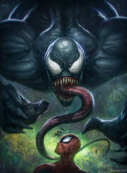 Venom and Spiderman by rafater