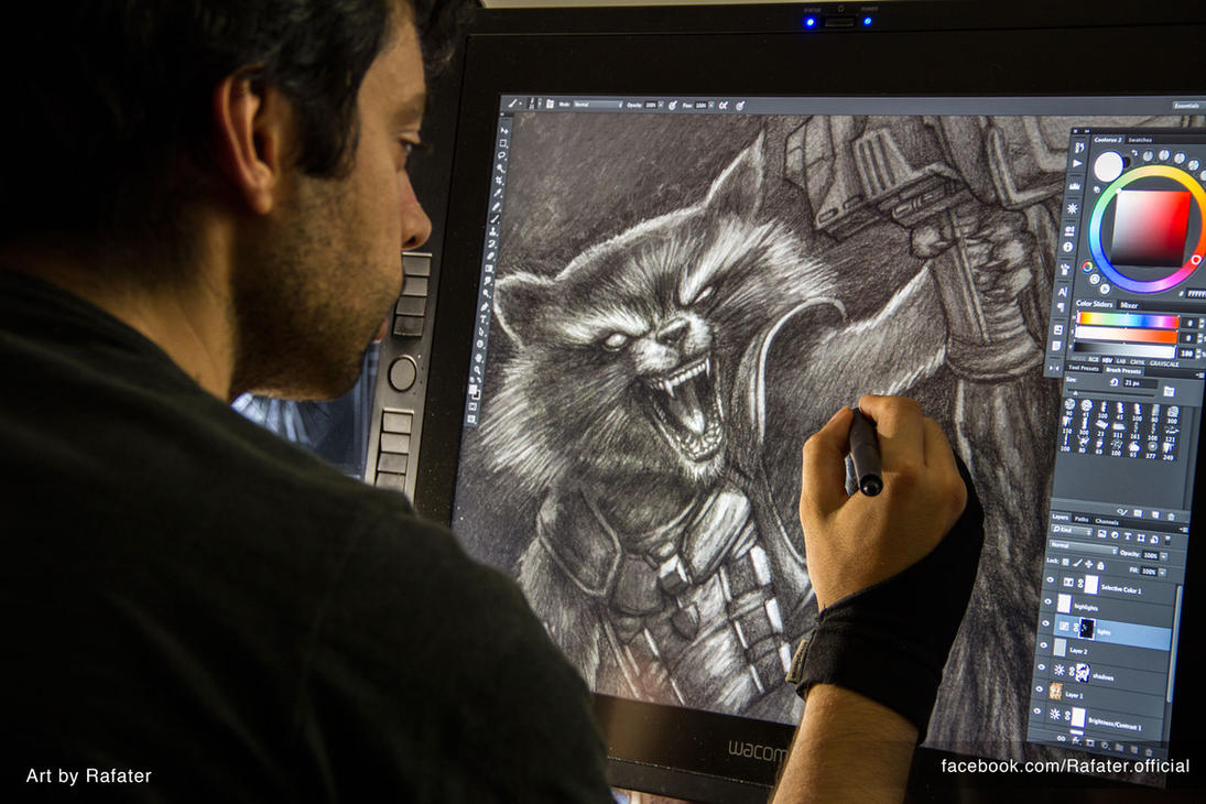 WIP Rocket Raccoon and Groot by rafater