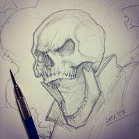 Ghost Rider sketch by rafater