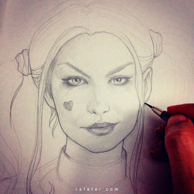 Margot Robbie as Harley Quinn WIP by rafater