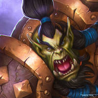 Heroes of the Storm contest close-up Thrall by rafater
