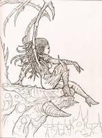 Inktober - Kerrigan - The Queen of Blades by rafater