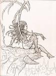 Inktober - Kerrigan - The Queen of Blades
