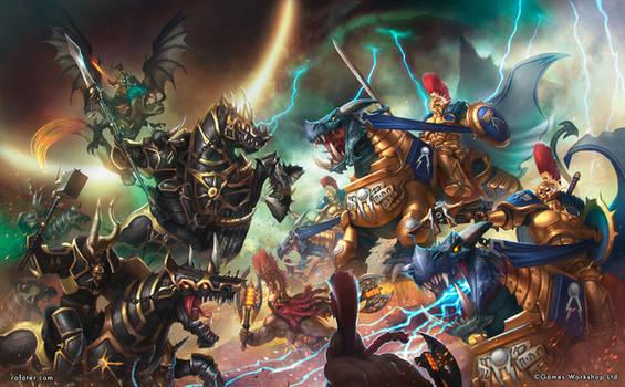 Warhammer - Dracothion guard vs Varanguard