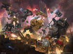 Deathwatch vs Tau battlesuits by rafater